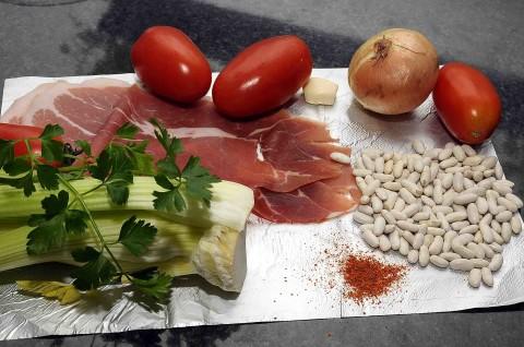 Fagioli cannellini con prosciutto alla diavola ingredienti