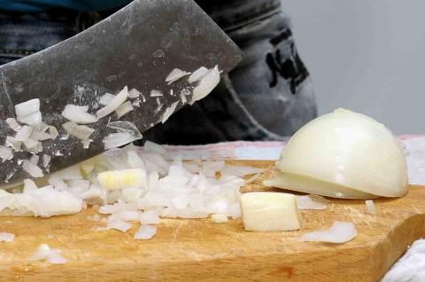 aglio e cipolla tritati